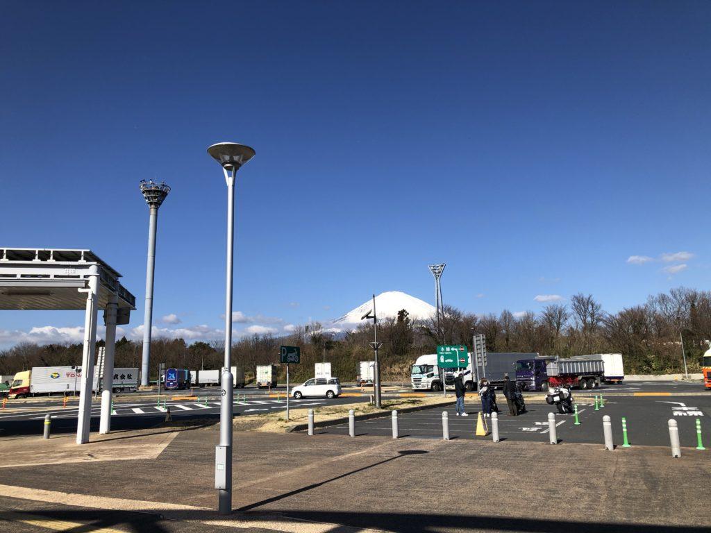 足柄SA 富士山