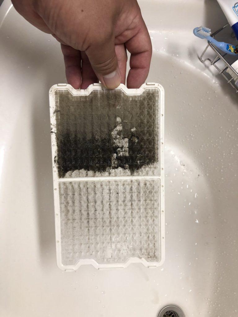 お風呂換気フィルター掃除