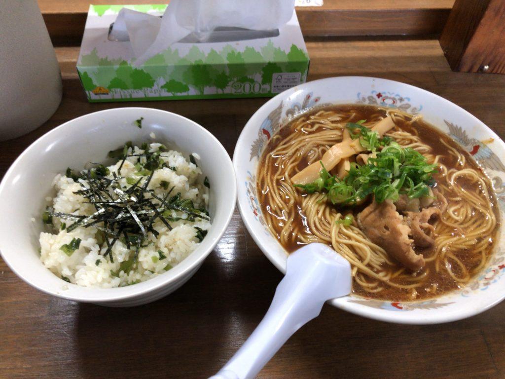 わさび菜めし・徳島ラーメン